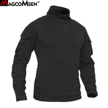 MAGCOMSEN T-shirts Men Navy Military Tactical T-shirts Long