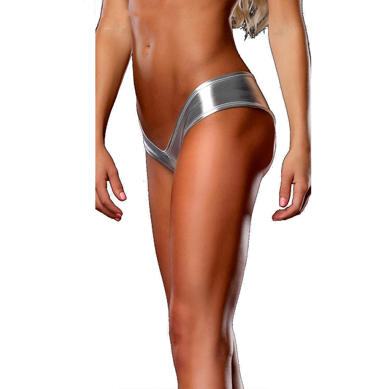 Free Drop Shipping Wholesale and retail sexy thong on sale plus size metallic shorts briefs popular women underwear panties ...