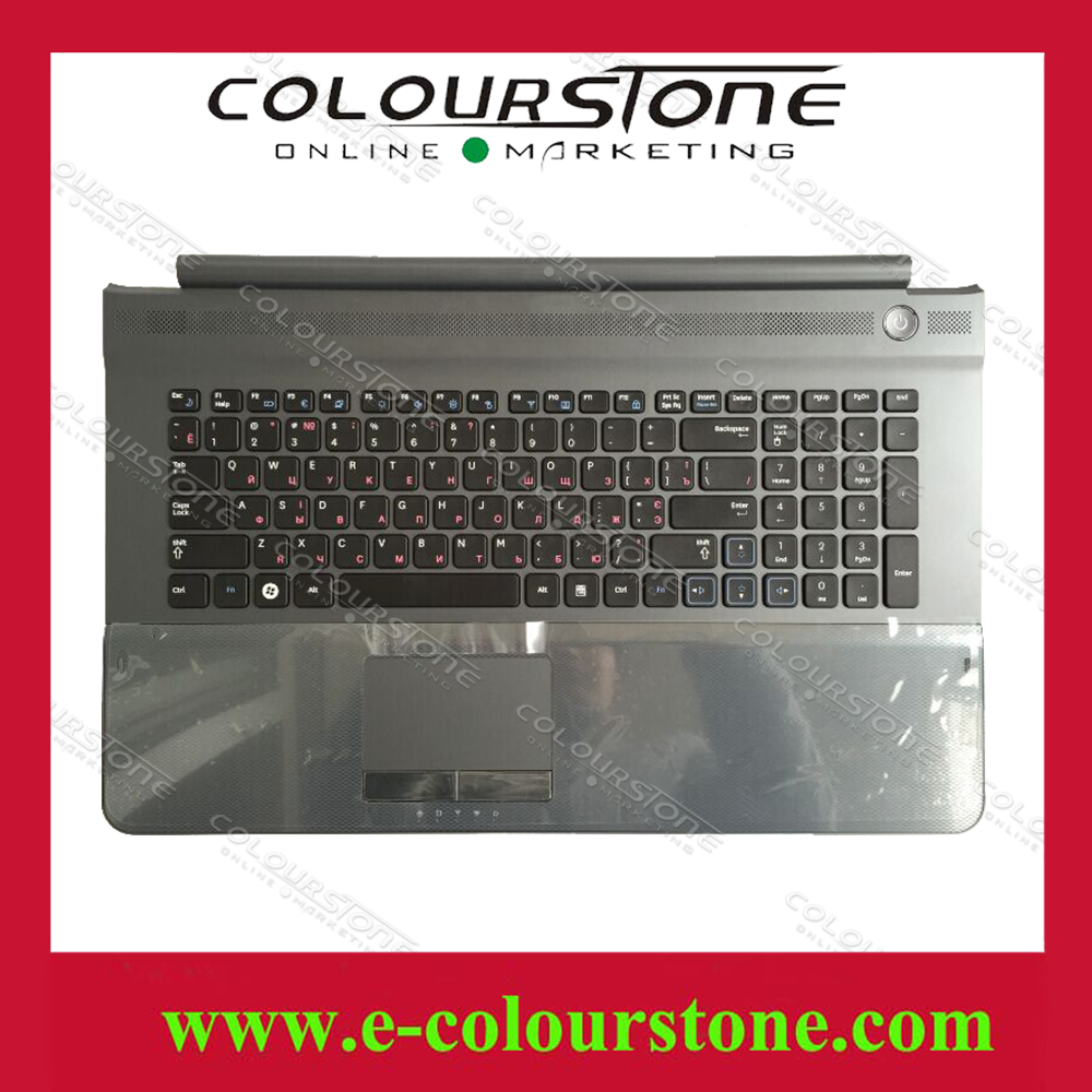 Russian RU Layout For Samsung RC710 Keyboard with Frame Palmrest Touch Case Cover Keyboard new laptop keyboard for samsung np700z5a 700z5a np700z5b 700z5b np700z5c 700z5c ru russian layout