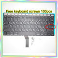 "Brand New Small Enter RS Russian keyboard+Backlight Backlit+100pcs keyboard screws For MacBook Air 13.3"" A1369 A1466 2011-15Year"