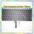 "Nova marca Pequeno Digite RS teclado Russo + Backlight + 100 pcs parafusos do teclado Para MacBook Air 13.3 ""A1369 A1466 2011-15Year"
