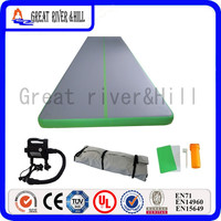 Великие реки Хилл обучение Коврик Надувной Воздушный трек прочный коврик серый и зеленый 7 м x 1.8 м x 10 см
