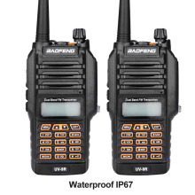 New Baofeng UV-9R Handheld Walkie Talkie 8W UHF VHF UV Dual Band IP67 Waterproof Two Way Radio Interphone Transceiver 2PCS