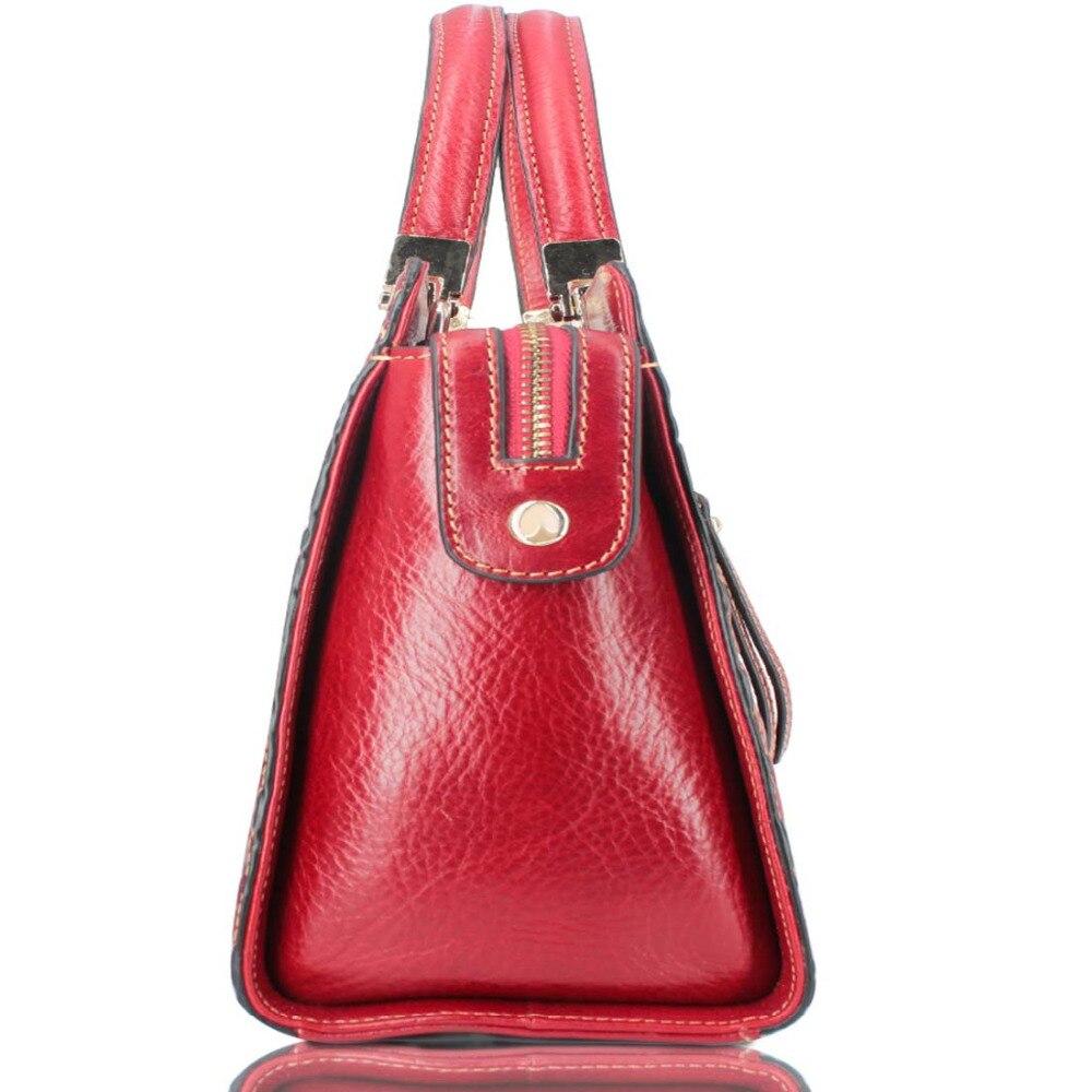 Italienischen Echtem Logo Leder Wome Handtasche Fashion Damen Tasche Echtes Großhandel Individuelles Red Nationalen Dropshipping n4nxd7rv