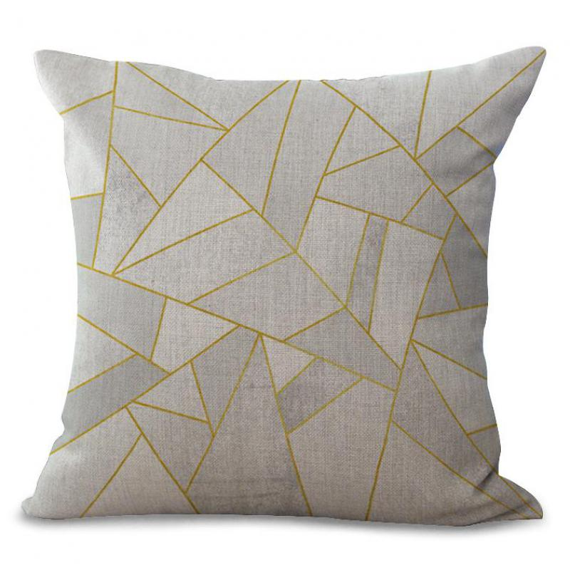 Factory Direct Supply 2017 New Design Simple Mosaic Color Geometric Pillowcase Living Room Chair Pillow Cases