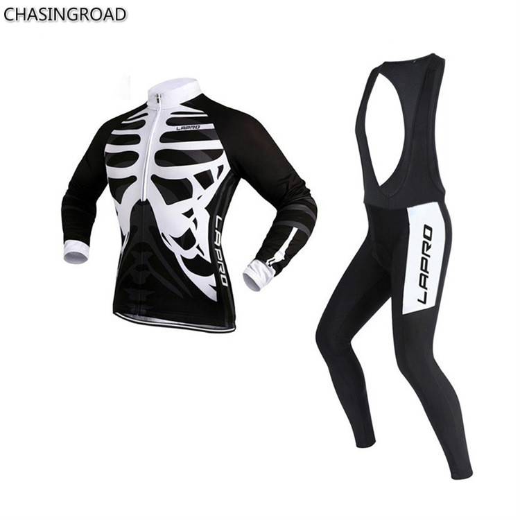 ФОТО 2017 Winter New Bicycles Fitness Equipment Strap Long Sleeved Fleece Cycling Sets Sports Riding Suit