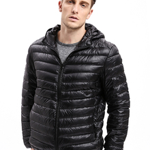 Vomint hot sale men's fashion warm Down Coat Jacket thin hoo