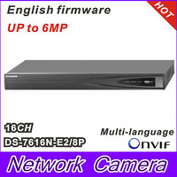 2014 Hikvision NVR 16CH Plug Play 8CH PoE Up To 6MP Onvif Project Level Network Video