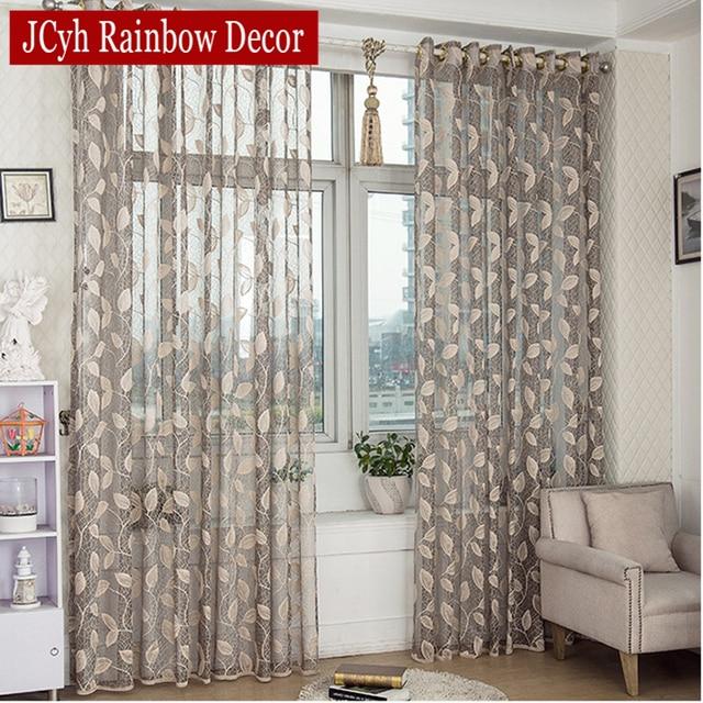pastorale bladeren sheer tulle gordijnen woonkamer raam keuken deur gordijnen slaapkamer voile gordijn stof gordijnen
