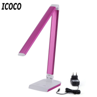 ICOCO Portable 10W Eye Protecting LED Light Students Office Foldable Lamp Low Consumption Light Adjustable Touch Light EU Plug