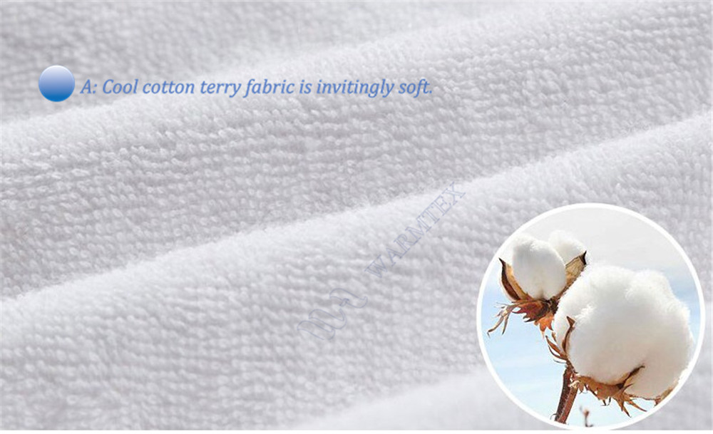 fit mattress 10-20cm all sizes TERRY waterproof Customized Cloth Mattress Cover 100% Waterproof high quality customized