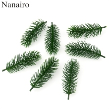 30pcs Artificial Plastic Green Pine Plants Branches Wedding Home Party Decorations DIY ChristmasTree Handcraft Accessories(China)