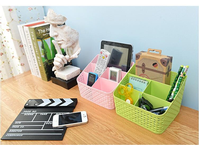 Simple life Desktop sundries pen pencil storage basket organizer vintage container storage basket plastic box storage box 6