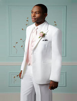 Wedding New Lang groomsman white swallowtail dress suit white jacket jacket custom speech stage suit business men tuxedo