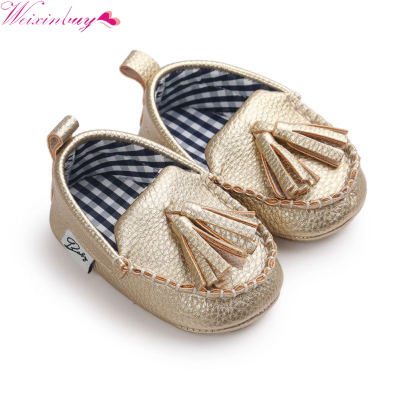 New Baby Shoes WEIXINBUY Princess First Walkers Baby Girl Sneaker Tassel Pendant PU Leather Baby Shoe Bebe Moccasins