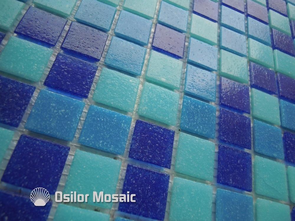 Trasporto libero di vetro blu mattonelle di mosaico di nuoto piscina
