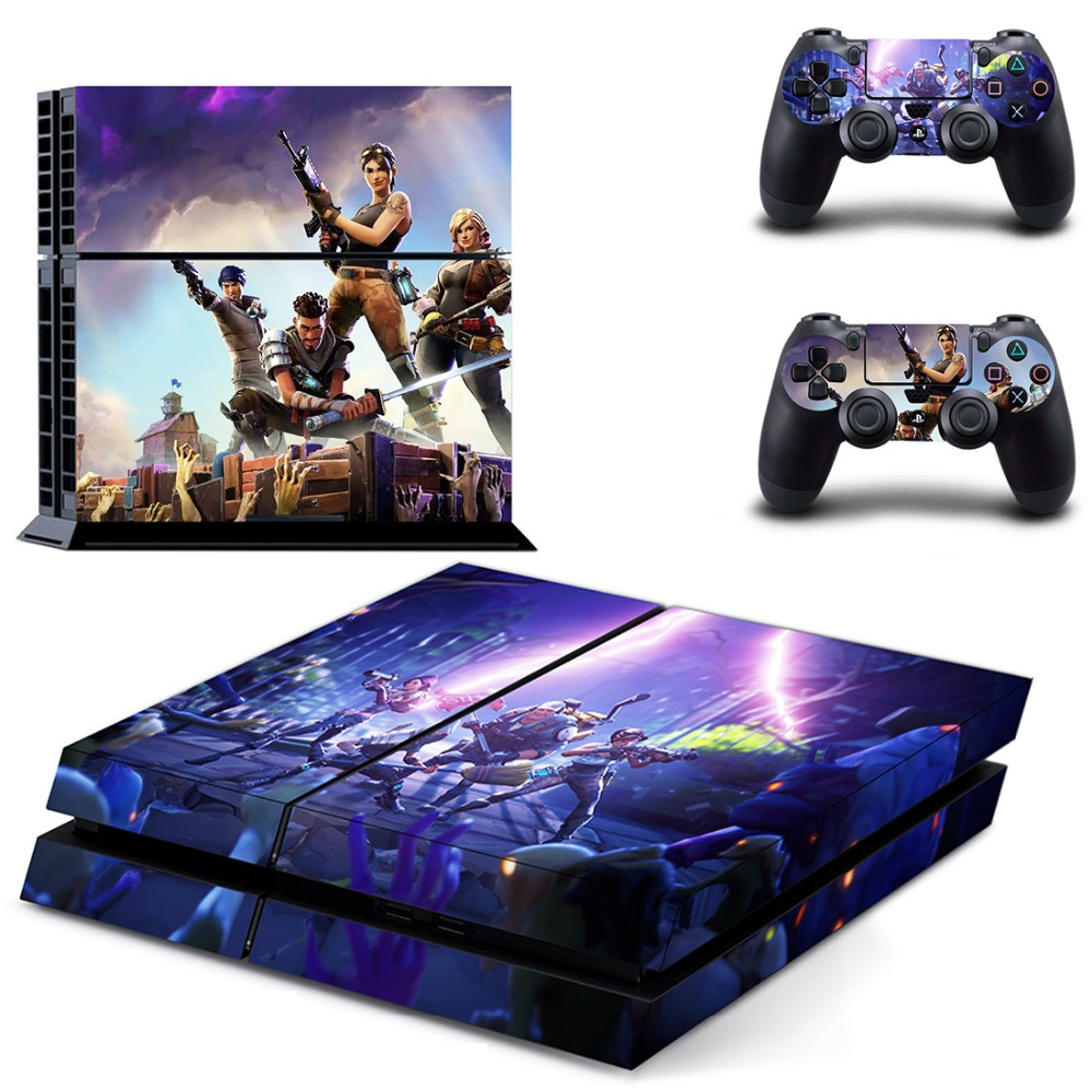 New PS4 Skin Sticker Decal Vinyl For Sony Playstation 4 Console And 2 Controllers PS4 Skin Sticker(China)