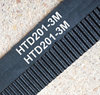 5 pieces/pack 201 HTD3M 12 timing belt teeth 67 width 12mm length 201mm rubber closed-loop belt 201-3M HTD 3M pulley CNC machine