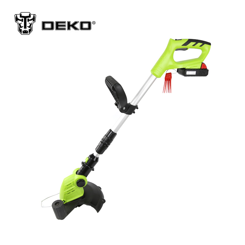 DEKO DKGT06 20V Li ion Battery 1500mAh Cordless Grass Trimmer with Battery Pack and Blade Pen
