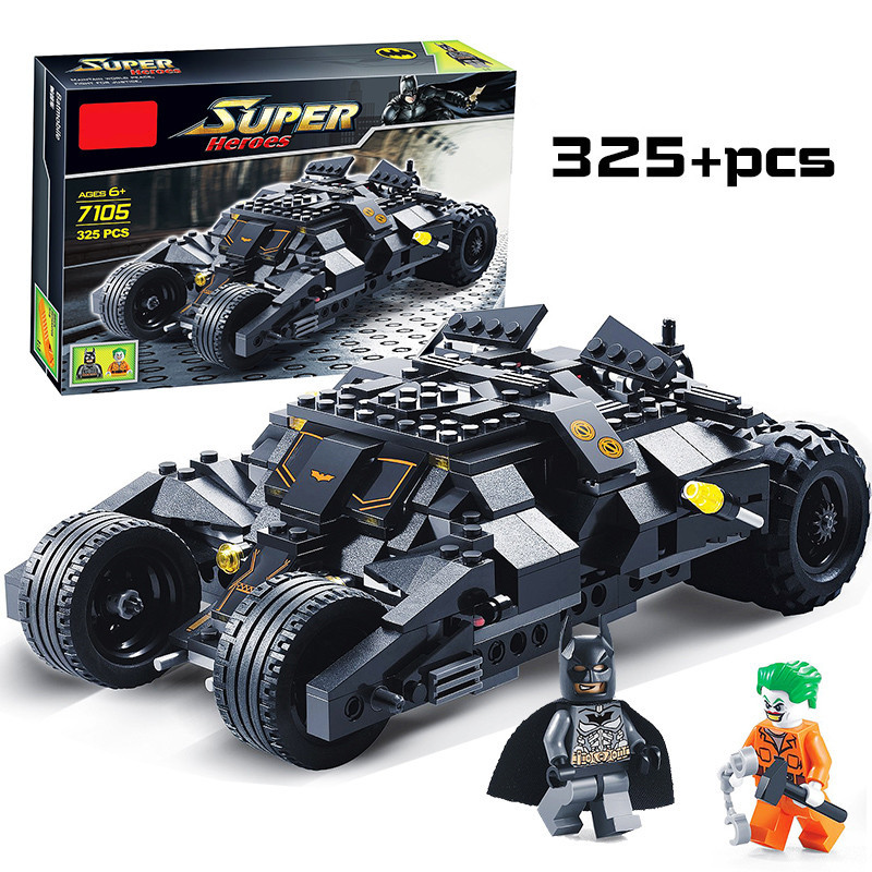 цена на Super Heroes Avengers Batman Race Truck Car Model Technic Building Block Sets DIY Toys Compatible With LegoINGly Batman