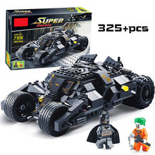 Super Heroes Avengers Batman Race Truck Car Model Technic Building Block Sets DIY Toys Compatible With LegoINGly Batman(China)