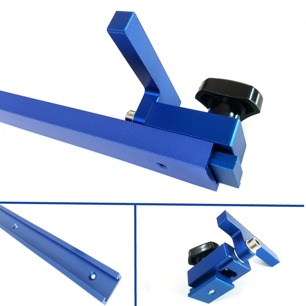 1Set Miter Track Stop and Aluminium alloy T tracks t Slot 300 800mm Miter Track Jig Fixture T Slot Woodworking Tools|Hand Tool Sets| |  - title=