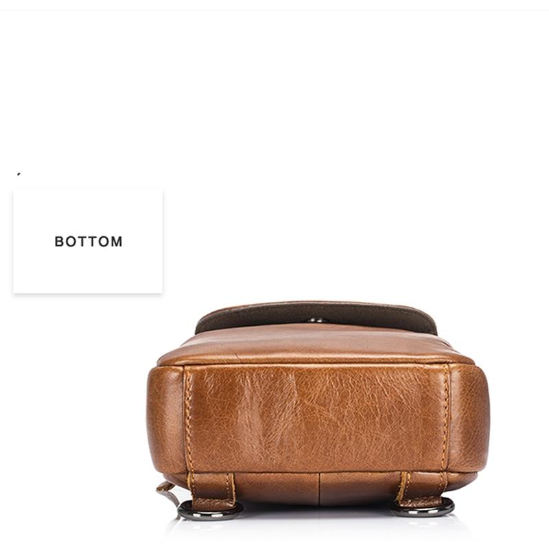 BULLCAPTAIN Brand Men's Chest Bag Fashion Crossbody Bags For Men Genuine Leather Small Shoulder Bag стоимость