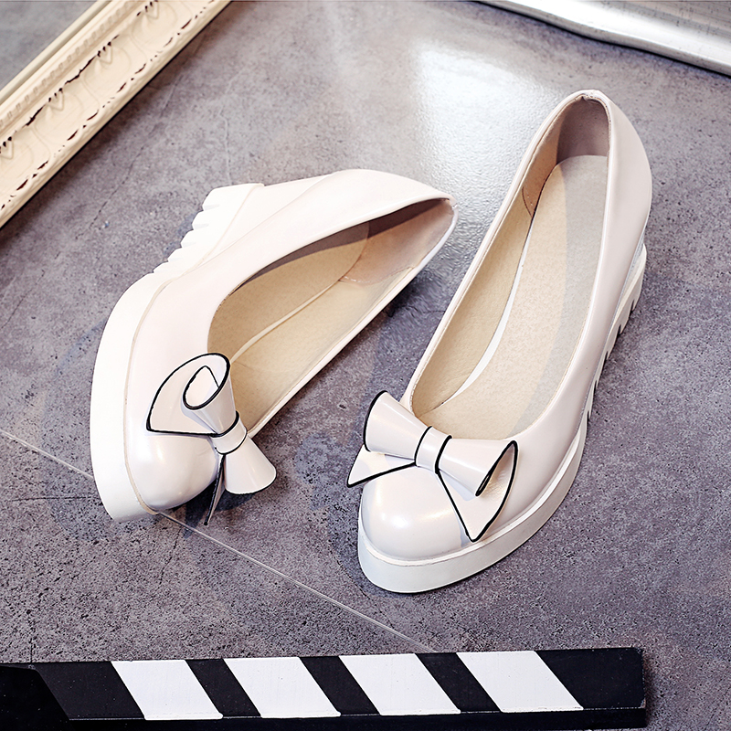 New spring fashion shoes with high heels wedge flower sweet lady shoes white pink girls big yards of shoes 40-43 shoes woman hot