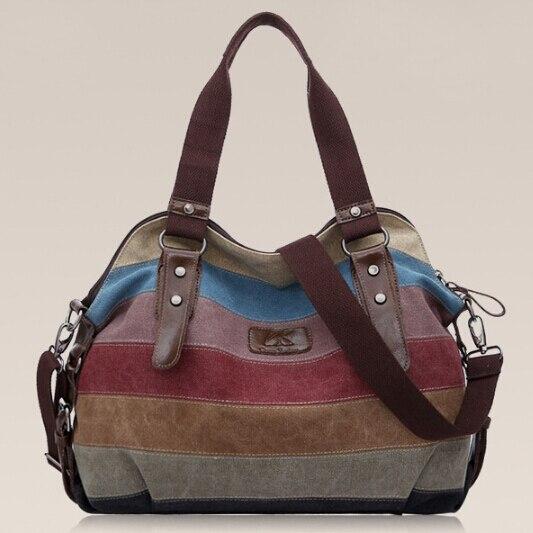 Saco stacy venda quente boa qualidade marca bolsa das mulheres do sexo  feminino bloco de cor grande saco de lona senhora triped sacola grande em  Bolsas ... 704a07629d7