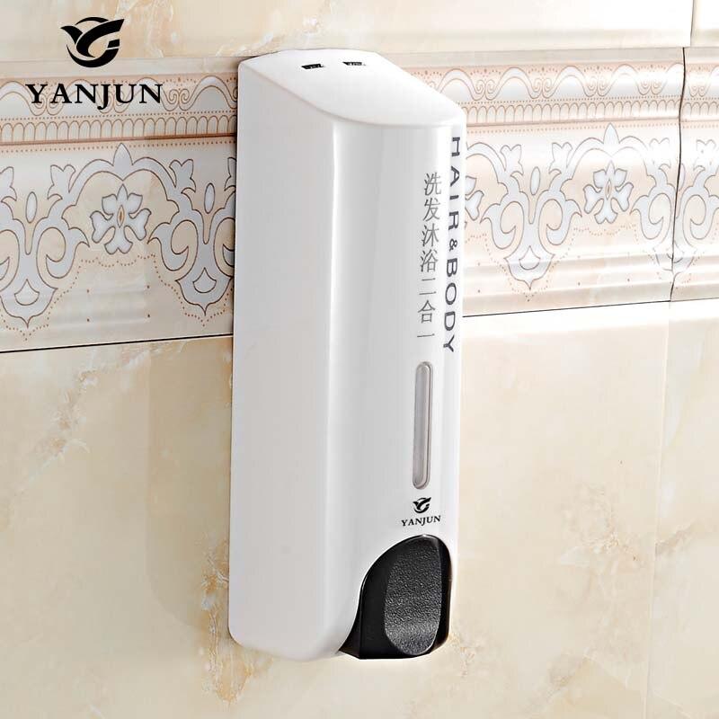 yanjun manual liquid soap dispenser wall mounted shower body wash pumps 350ml abs plastic yj - Soap Dispenser Pumps