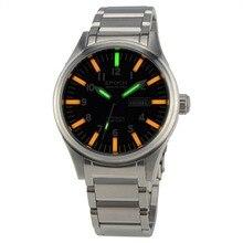 EPOCH 7016G steel strap waterproof 100m tritium gas 3 colors luminous mens business mechanical watch