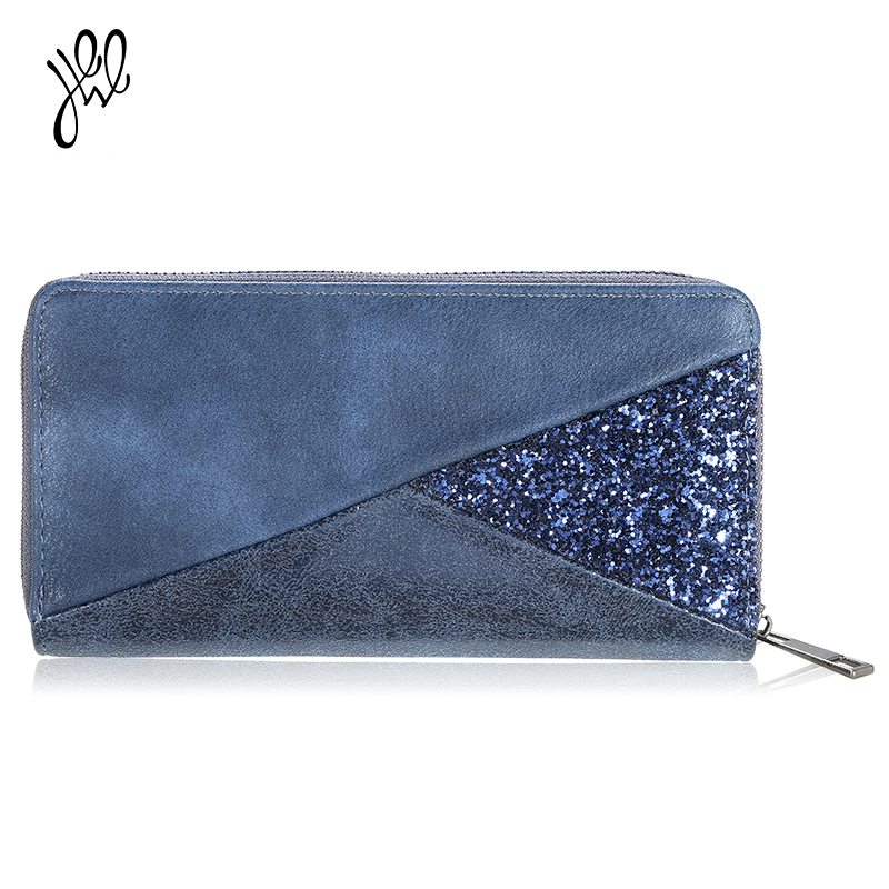 Fashion Women Wallet Long PU Leather Wallets Zipper Purse Card&Phone Holder Money Hand Bags Patchwork Wallets Large Capacity  bvlriga women wallets famous brand leather purse wallet designer high quality long zipper money clip large capacity cions bags