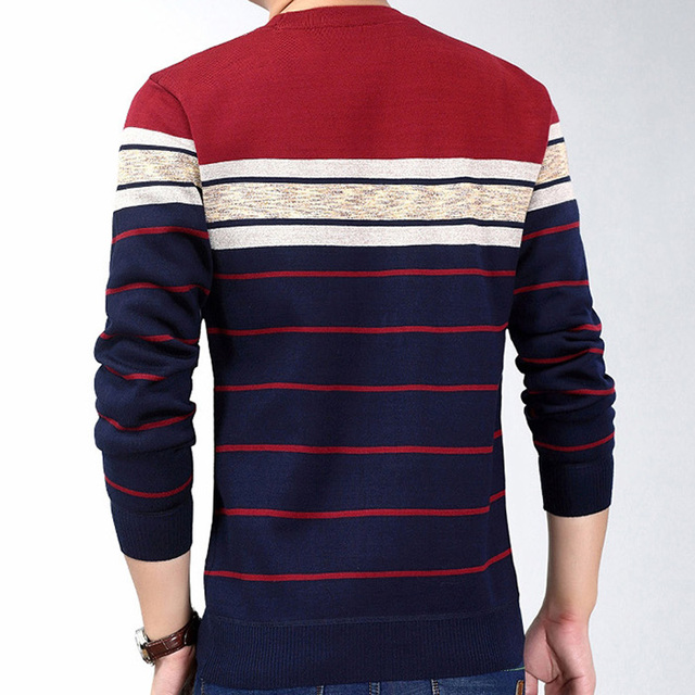 New fashion casual social fitness bodybuilding striped T-Shirts 2