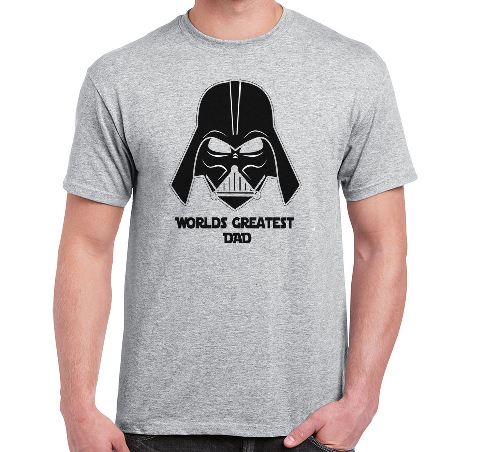 Star wars T-shirt, funny Darth Vader, Worlds Greatest Dad humurous meme Tee Man Fashion Round Collar T Shirt top tee image