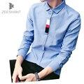 Zeeshant xxxxxl vestido formal más el tamaño de otoño de manga larga para hombre de moda casual de negocios masculino camisa del smoking de los hombres camisas