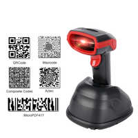 Wireless Barcode Scanner Wireless Laser Bar Code Reader 1D 2D QR PDF417 Aztec Tragbare Barcode Scanner Drop Verschiffen
