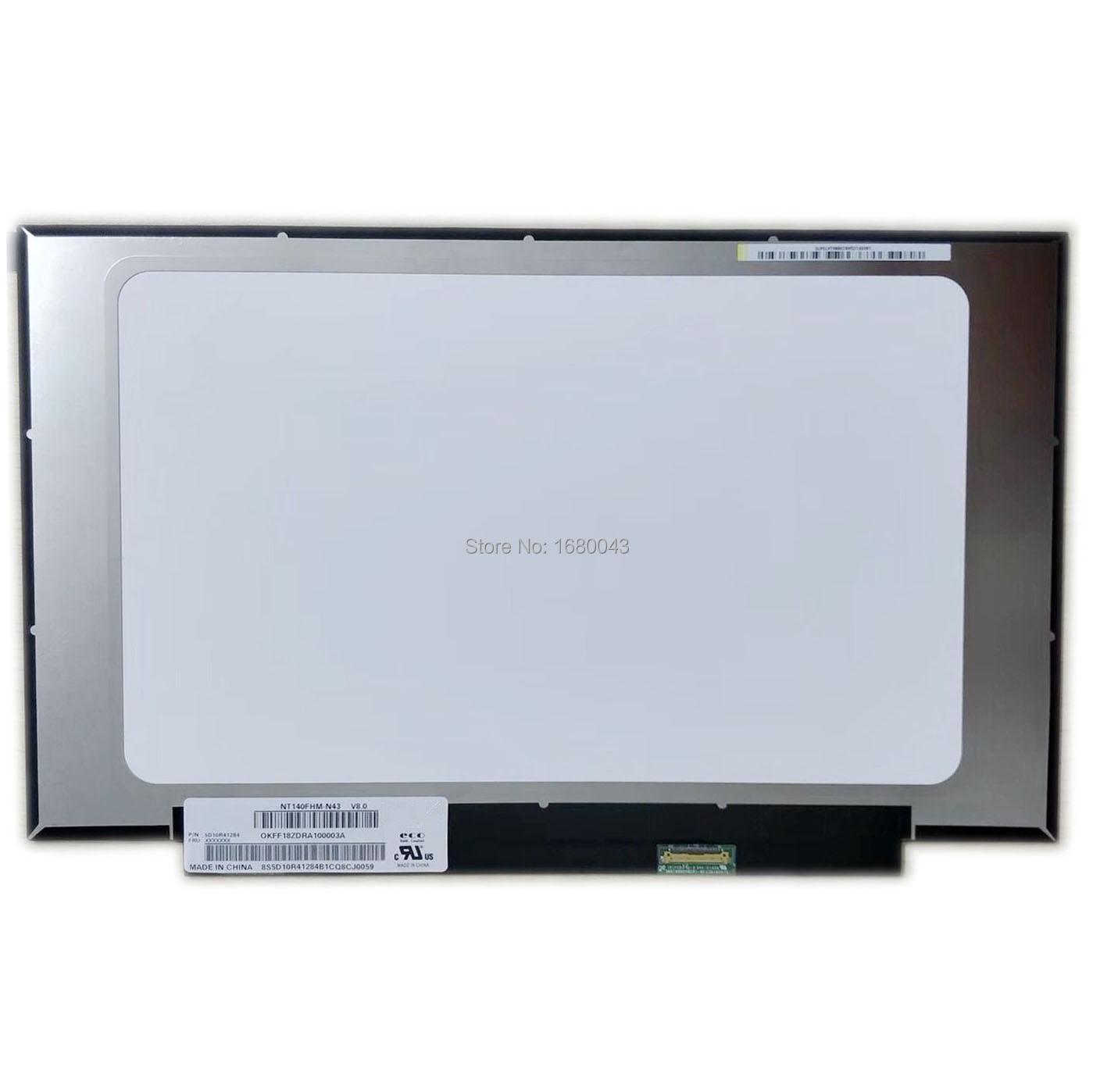 NT140FHM-N43 V8.0 Fit B140HAN04.0 N140HCA-EAC NV140FHM-N62 N61 LCD LED Screen 1920*1080 30 PIN NEW IPS