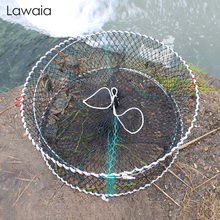 Lawaia Fishing Crab Net Aggravated Bold Folded Round Cage Sea Shrimp River Freshwater Trap For Crabs