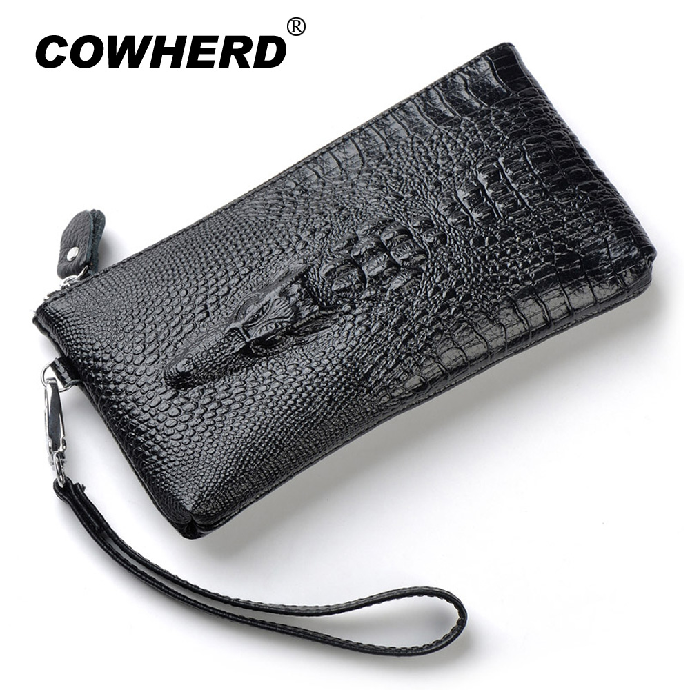 2017 Fashion Crocodile 100% Genuine Leather Wristlet Day Clutch Evening Bags Fashion Women Mobile Phone Bag Coin Purse,ANS-SL-87 100% genuine leather men 5 5 6 5 inch cell mobile phone case bags hip design belt purse high quality waist hook coin purse bag