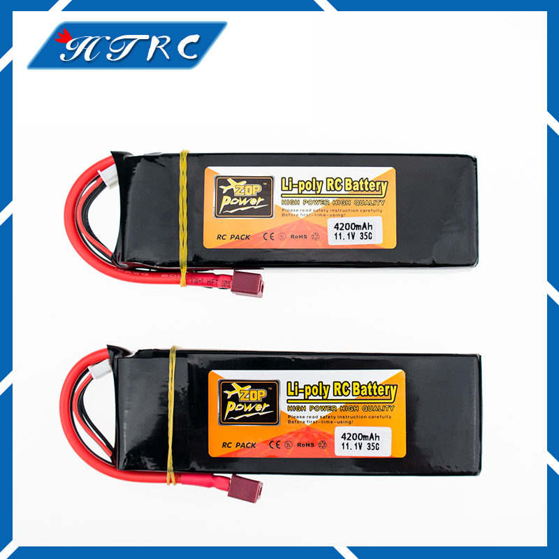 2pcs Lipo 11.1v 3s 4200mAh battery 35C max 35C ZOP XT60 T plug lithium batteries for RC Helicopter Airplane drone part wholesale zop power lithium polymer lipo battery 11 1v 10000mah 3s 25c t plug for rc airplane car boat helicopter part