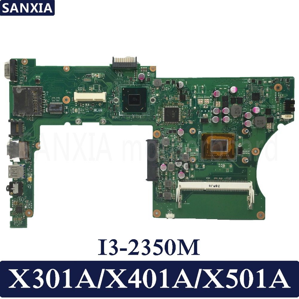KEFU X401A Laptop motherboard for ASUS X301A X401A X501A Test original mainboard I3-2350M HM76
