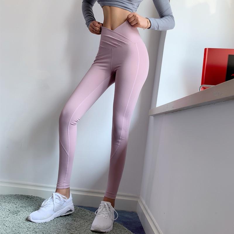 Collants femmes Leggins femmes Fitness Sport Leggings Sportswear femme tenue de Sport pour Gym Legging taille haute Cross Yoga pantalon