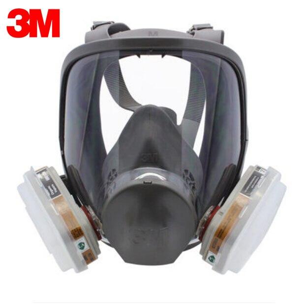 Masque de Protection de filtre de respirateur réutilisable de visage de 3 M 6900 + 6005 Anti-formaldéhyde et vapeur organique 7 articles pour 1 ensemble LT062