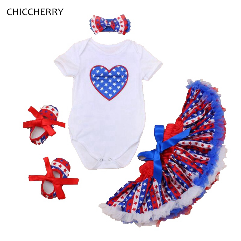 cdbc257d62b Blue Stars Newborn Bodysuit American July 4th Baby Girl Clothes Infant  Jumpsuit Headband Stripes Lace Skirt Set Toddler Clothes