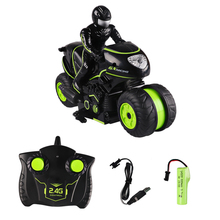 2.4G RC Tumbling Stunt Car Motorcycle High Speed Side-Row Dr