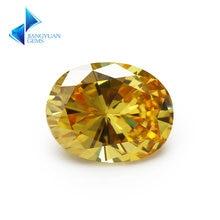 Размер 2x3 ~ 13x18 мм овальная форма 5А золотисто желтый Фианит
