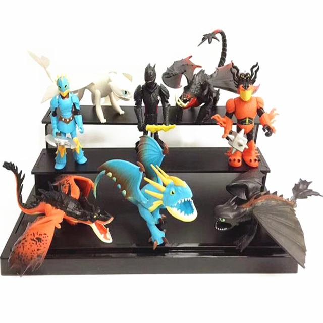 8 шт./компл. Как приручить дракона 3 беззубый светильник Fury подвижная фигурка-модель игрушки аниме фигурка коллекция для детей подарок для детей