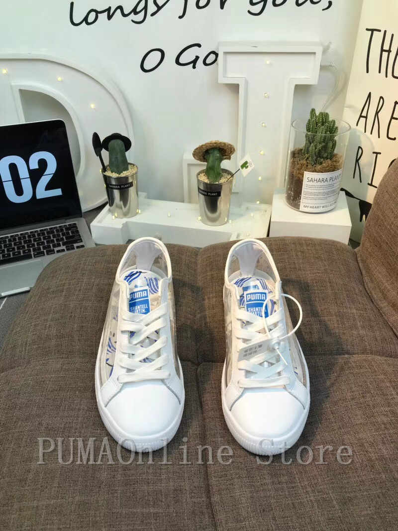 be4f7bd47e43 ... 2018 Original PUMA Women s x Shantell Martin Clyde Clear Sneakers Men s  and Women s Sneaker Badminton Shoes ...