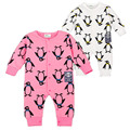 Animal Romper Baby Boys Girls Body Bebe Single Breasted Unisex Newborn Infant Clothing Penguin Pattern Baby Jumpsuit