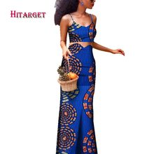 africa skirt set danshiki african long skirt+sling top for women 2 piece clothes WY3865
